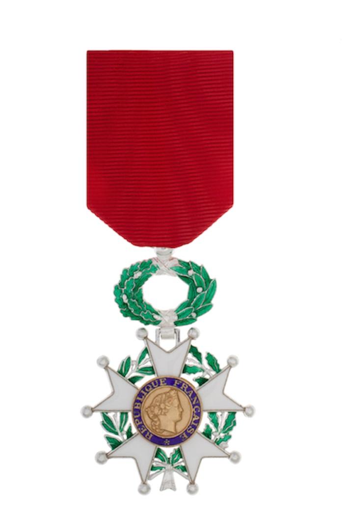 Cérémonie de remise des insignes de Chevalier dans l'Ordre national de la Légiond'honneur
